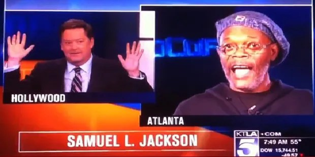 Samuel Jackson goes nuclear on reporter for confusing him with Laurence Fishburne