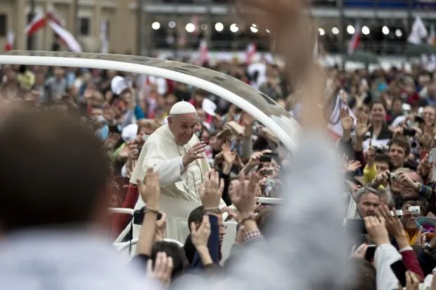 A tale of four popes: Today Pope Francis canonized two predecessors in the presence of another