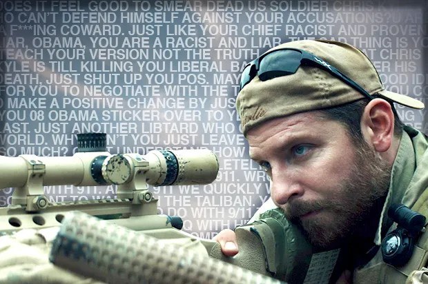 """My first impulse is to call you a dumb Obama ass-licking c**t"": ""American Sniper"" fans tell me off"