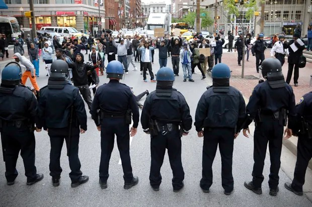 """This is why the police have militarized"": Conservatives respond to Baltimore riots"