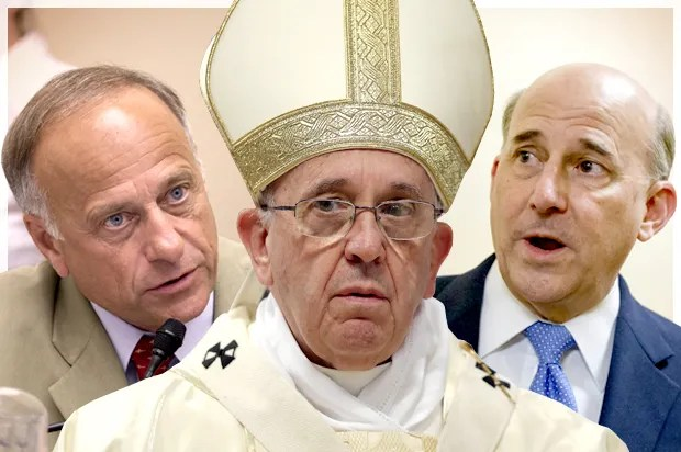 Pope Francis makes Tea Party heads explode: Why Steve King & Louie Gohmert have it in for the pontiff