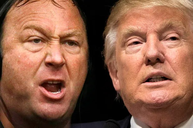 Donald Trump & Alex Jones: A match made in wing-nut hell