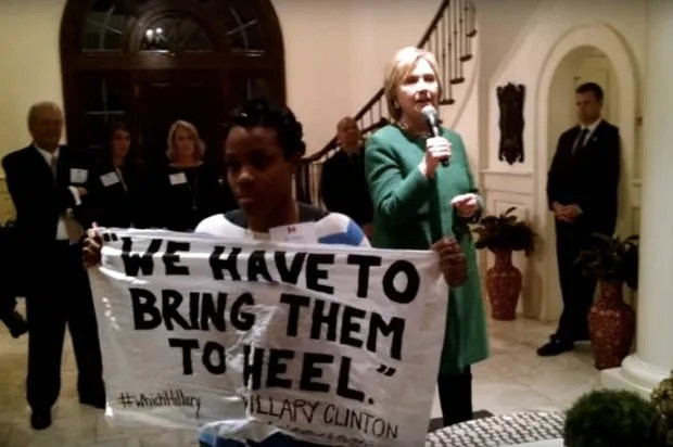 """I'm not a Superpredator, Hillary!"": Black Lives Matter protestors confront Clinton at South Carolina fundraiser"