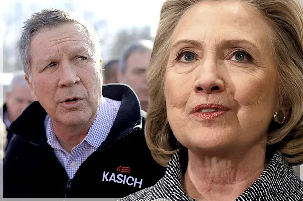 Image result for Kasich & Hillary