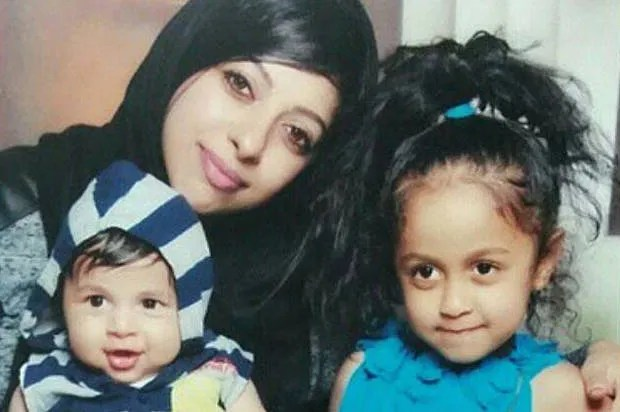 Bahraini human rights activist Zainab al-Khawaja with her son Abdulhadi, 1, and daughter Jude, 6 (Photo credit: Gulf Center for Human Rights/Maryam al-Khawaja)