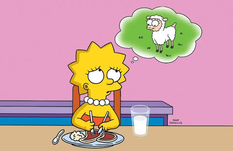 Image result for lisa simpson vegetarian