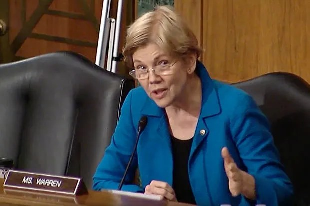 """Were your eyes stitched closed?"": Elizabeth Warren skewers Federal Reserve regulator who played ""pivotal"" role in 2008 financial crisis"