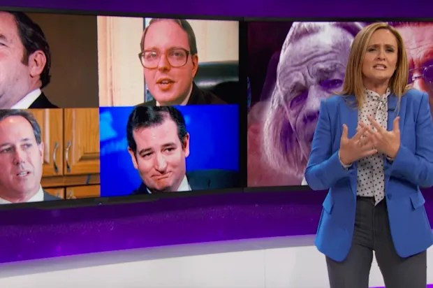 "Sam Bee destroys the religious right's abortion obsession: ""There it is, in the book of Doesn't Exist — right next to the verse condemning lesbians"""