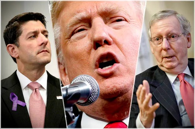 Image result for Ryan, Mitch and Trump