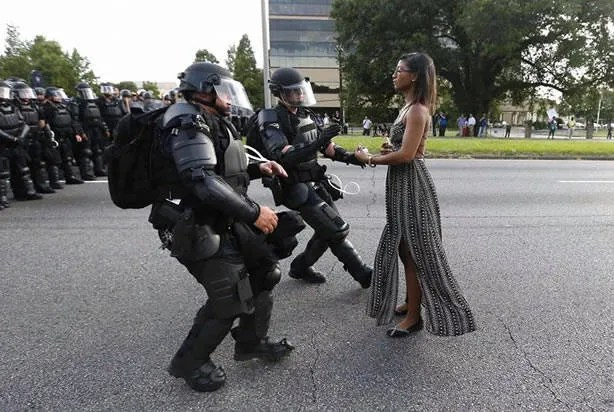 Anatomy of An Iconic Image: How this photograph of a protester in Baton Rouge could come to symbolize a movement