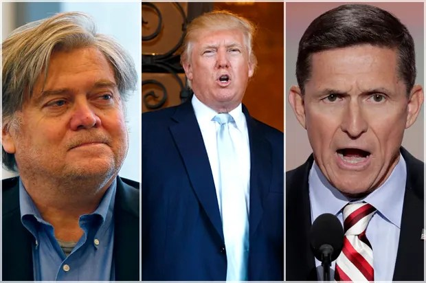 Image result for photos of bannon flynn trump