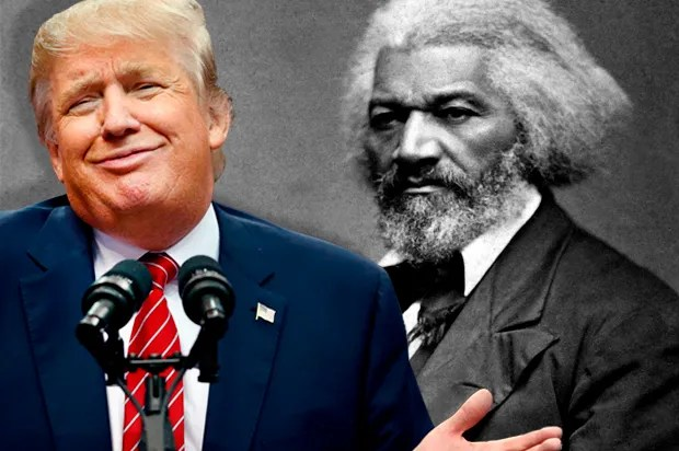 Image result for trump and frederick douglass