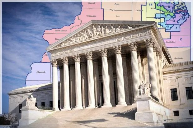 Image result for photos of Wisconsin attorneys arguing a gerrymander case