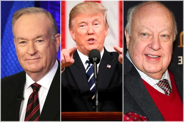Image result for images of Roger Ailes and Bill O'Reilly