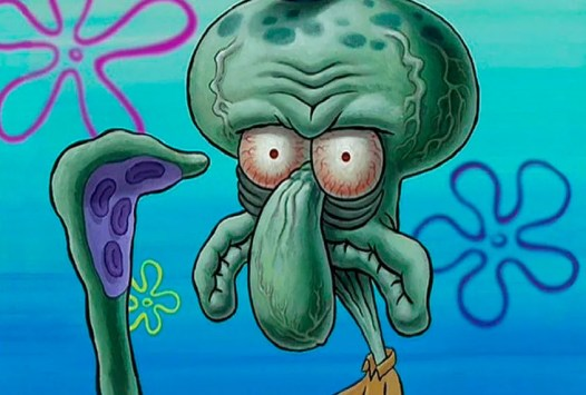 Squidward HD Serious face Spongebob