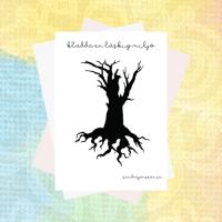 Kladda runt läskigt träd