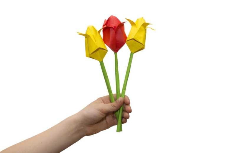 origami tulpan