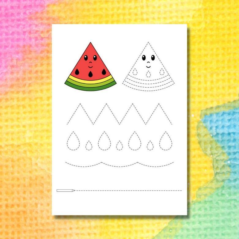 spåra linjerna i vattenmelonen