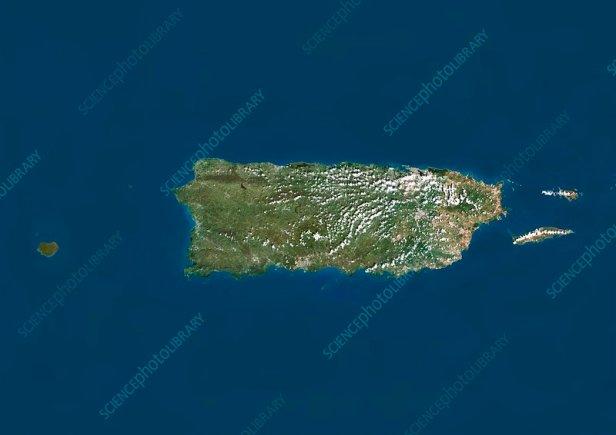 Puerto Rico, satellite image - Stock Image - C013/4055 - Science Photo  Library