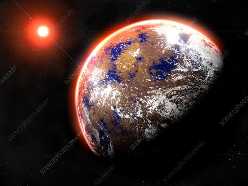 Proxima Centauri B Exoplanet Illustration Stock Image