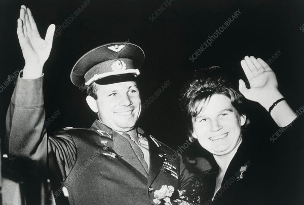 Astronauts Yuri Gagarin & Valentina Tereshkova - Stock ...