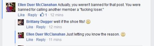 dugger ban reason
