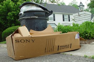 sony box trashcan
