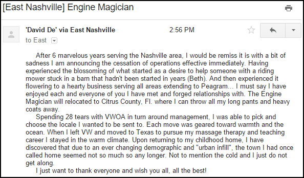 engine email