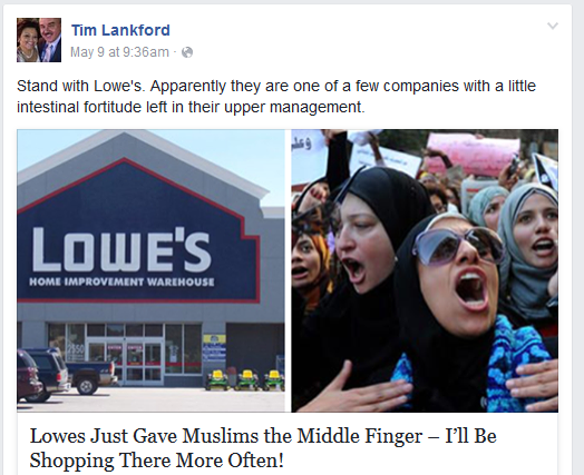 tim wont shop with muslims