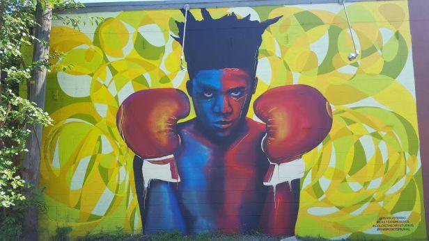 boxer mural