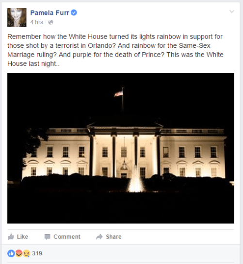 pamela furr fake new story white house prince gay orlando facebook post