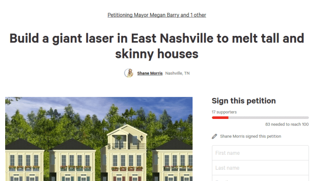 petition screen shot 1