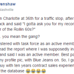 James T. Crenshaw: Cop Car Pisser, History of Dismissed Charges. Friend to the DA?