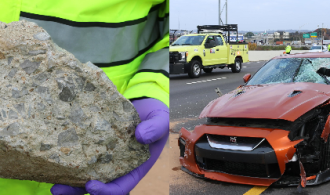 Chunk of concrete, likely thrown from bridge, killed man on I-24 Tuesday morning