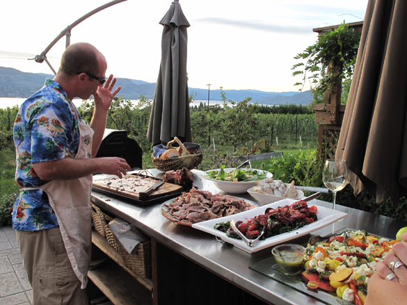 """""""Tableland"""" filmmaker (and Heidi's brother) Craig Noble readies supper..."""