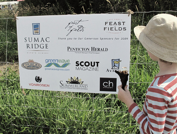 Scout was a very proud sponsor of the first Okanagan Feast of Fields...