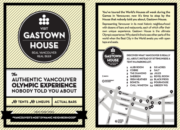 Good Gastown House Flyer Outline  Flyer Outline