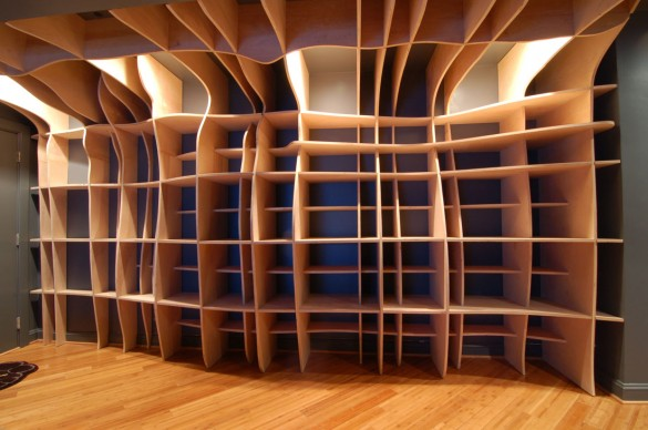 Digitally Fabricated Bookshelf (photo: dbd Studio)