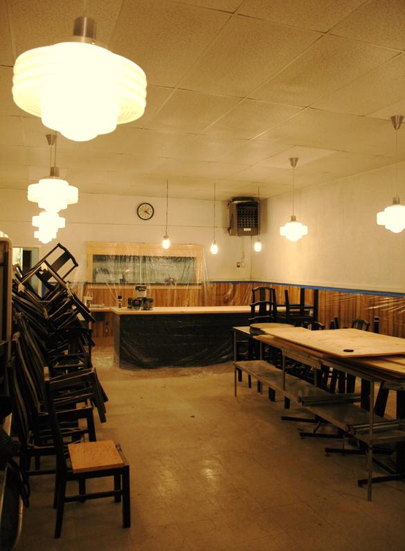 An interior shot of construction inside 229