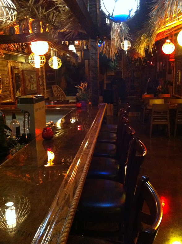 Shameful Tiki Room Vancouver Menu
