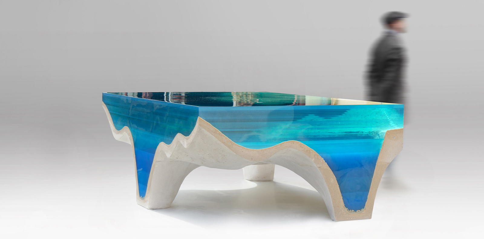 Artist Eduard Locota Make Hyper Realistic Tables Of Islands And The Underwater Topography Their Coasts Using Different Colours Epoxy Glass Over A Base