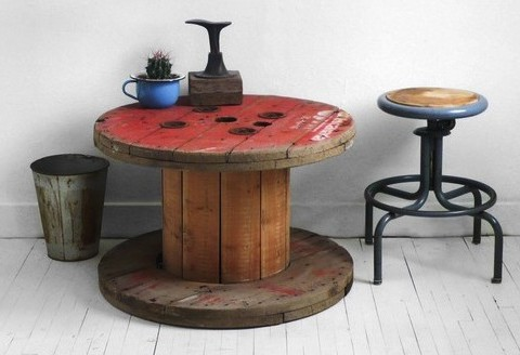 cable spool upcycling scraphacker
