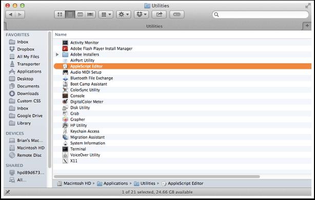 Open AppleScript Editor