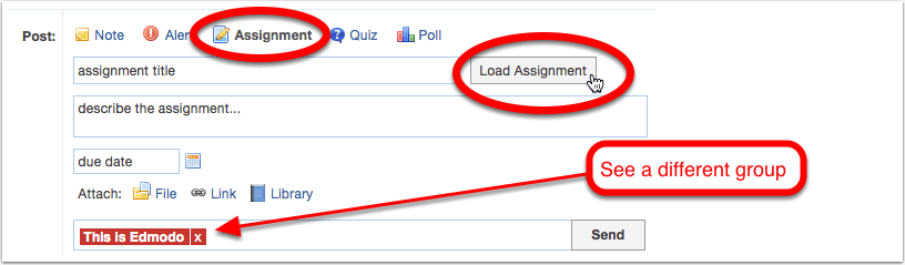 Step 3 - Load and assign your assignments when you like