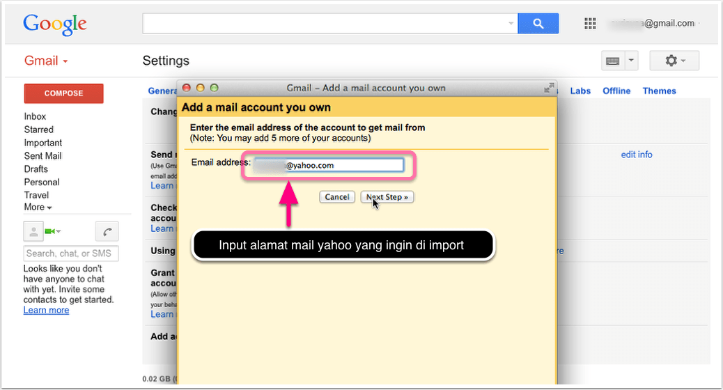 Gmail - Add a mail account you own