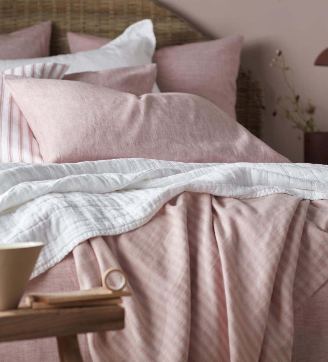 boho red pillowcase cotton linen bedding secret linen store