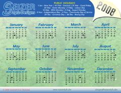 2008 Calendar B