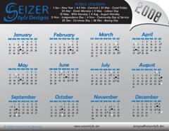 2008 Calendar C
