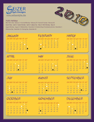 2010 Calendar B