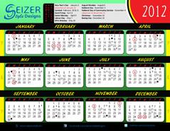 2012 Calendar 767 Reloaded